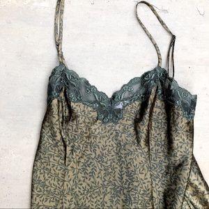 Victoria's Secret / Olive Green Vine Lingerie Slip